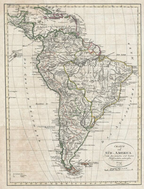 1820 Franz Pluth Map of South America