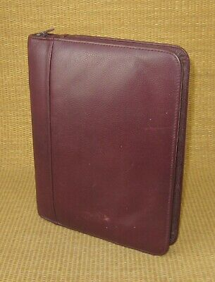 Classic 1.125 Rings Burgundy Leather Franklin Coveyquest Zip Plannerbinder