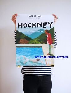 David Hockney Tate Britain Exhibition Retrospective, Original 2017 RARE Poster.