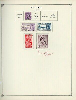 ST. LUCIA Scott International Album Page Lot #2 - SEE SCAN - $$$