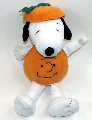 Snoopy Plush Stuffed Animal Pumpkin Halloween Costume Hallmark 15