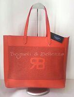 Borsa Donna Shopper Renato Balestra In Ecopelle Effetto Saffiano Color Corallo Arancione-  - ebay.it