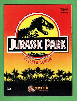 #EE. JURASSIC  PARK  STICKER ALBUM, NO STICKERS - MERLIN