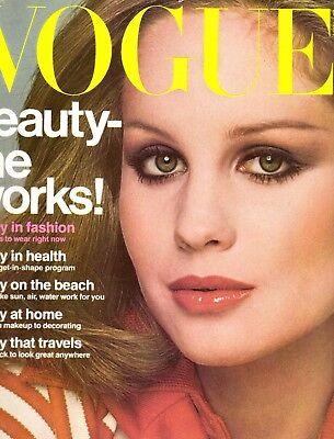 1976 Vogue Magazine Rosie Vela Elsa Peretti Adolph De Meyer Greece Swimwear 70s