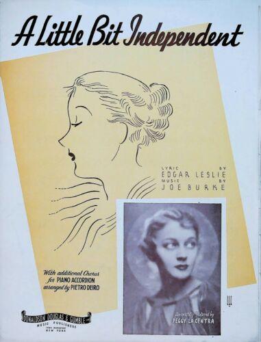 A Little Bit Independent Peggy La Centra 1935 Sheet Music