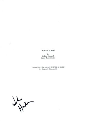 John Hawkes Signed Autographed WINTER'S BONE Movie Script Screenplay COA