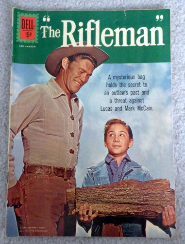 """RIFLEMAN ~ #10 Dell ~ 1962 ~ inuendo cover """"wood"""" ~ comic book"""