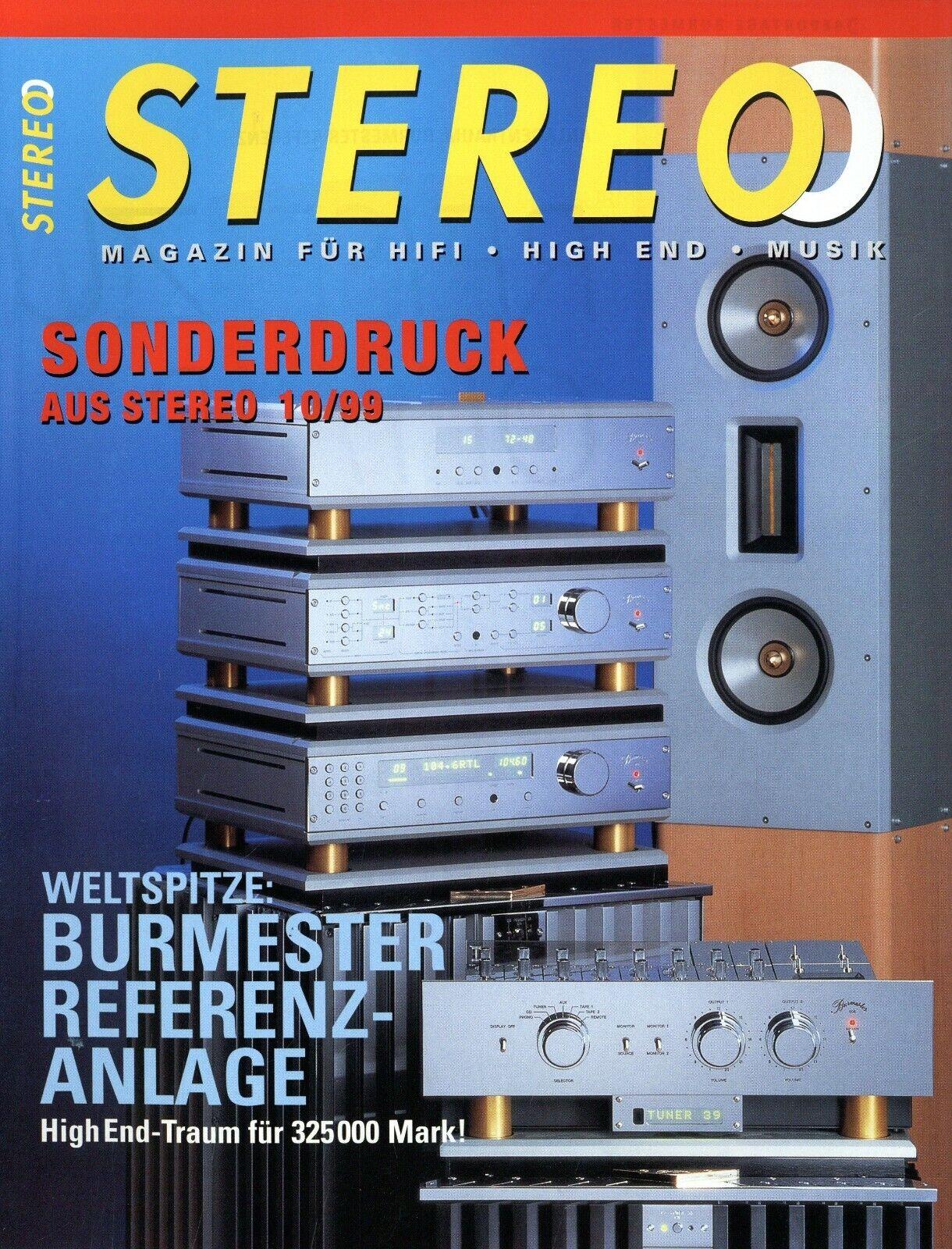 Burmester Referenz HiFi Anlage Test im Sonderdruck Stereo 1999 10/99 reprint