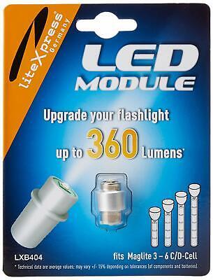 Litexpress LXB404 Led Upgrade Modul 360 Lumen Maglite Taschenlampe (Geeignet für Maglite Led Upgrade Modul