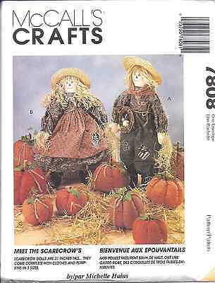 7808 Uncut Mccalls Nähen Basteln Muster Halloween Vogelscheuche Kürbisse 53cm