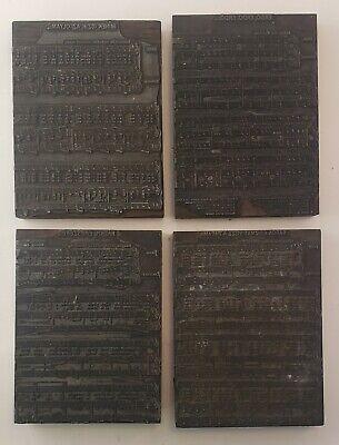 4 Vintage Hungarian Sheet Music Wood Metal Printing Press Blocks Stamp Delray Mi