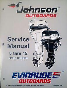 1997 Johnson Evinrude 5 6 8 9 9 15 Hp 4 Stroke Outboard