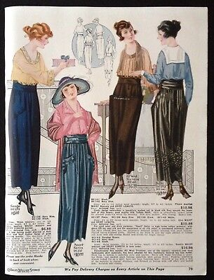 1920 FASHION AD PAGE CHARLES WILLIAM STORES NYC.~WOMEN'S SKIRTS