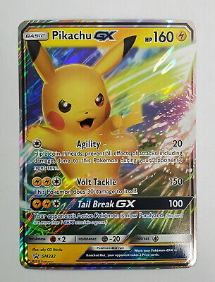 Pikachu GX SM232 Ultra Rare Promo Pokémon Card Normal Size