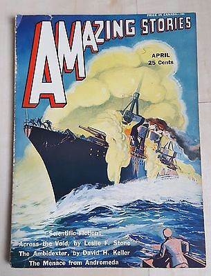 Amazing Stories vintage pulp fiction comic April 1931 vol 6 no 1