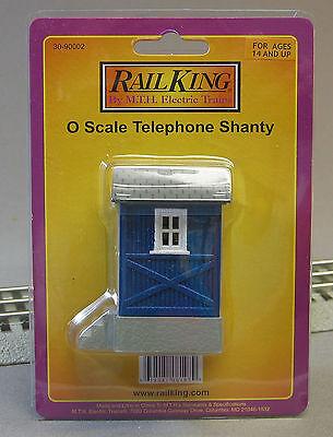MTH RAIL KING TELEPHONE SHANTY o gauge trains phone blue shed building -