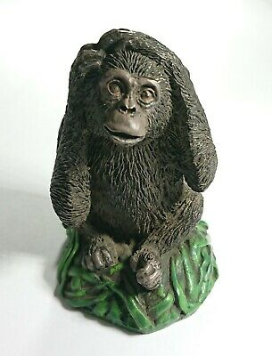 Vintage Cold Painted Spelter Monkey Figure