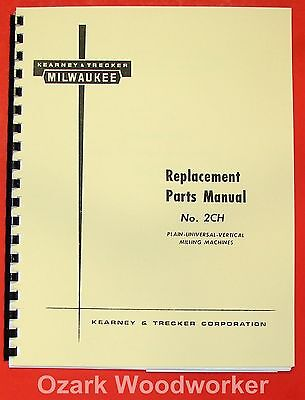 Kearney Trecker Milwaukee 2ch Milling Machine Parts Manual 0971