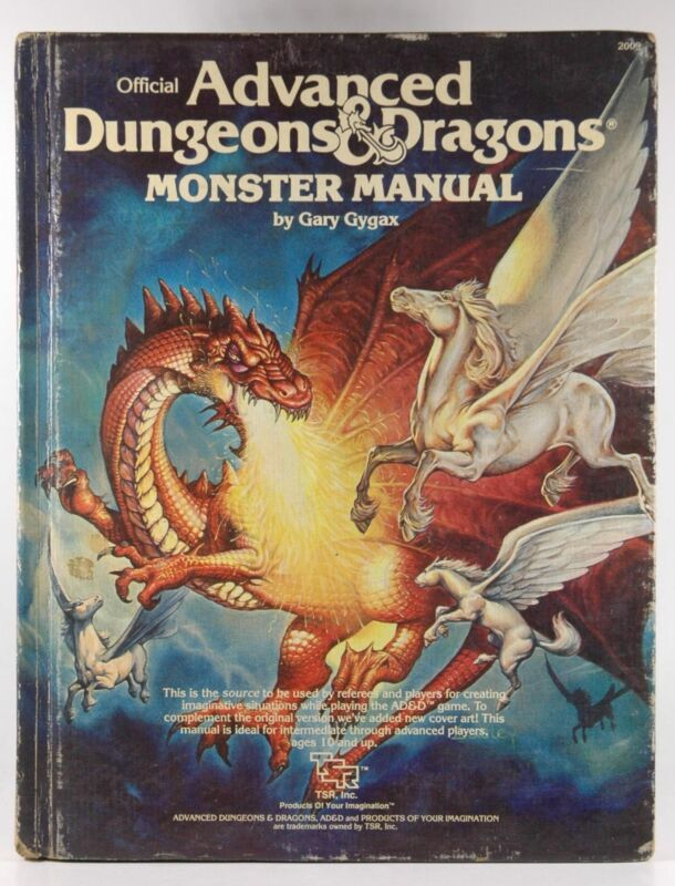 AD&D Monster Manual Fair Updated Cover and Coloring Gary Gygax  TSR
