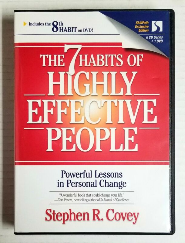 The 7 Habits of Highly Effective People by Stephen R. Covey (2000, 6 CD + DVD )