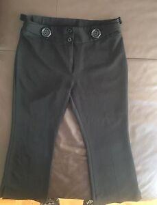 Pantalons Capris léger Été noir Taille 3 (XS)