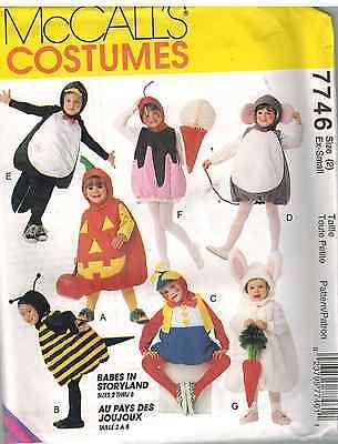 Pumpkin Halloween Costume Pattern (7746 UNCUT McCalls SEWING Pattern Bee Pumpkin Bunny Mouse Halloween)