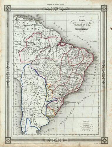 1852 Duvotenay Map of the Empire of Brazil