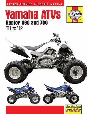 2001-2012 Yamaha Raptor 660 700 ATV Quad HAYNES SERVICE & REPAIR MANUAL 2977 for sale  Laguna Hills