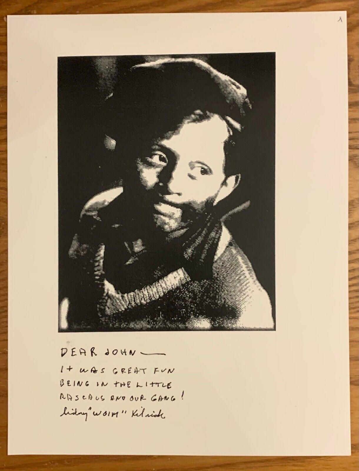 SIDNEY KIBRICK, 100 AUTHENTIC AUTOGRAPHED 8 1/2 X 11 PHOTO, COOL, LEGEND  - $39.97
