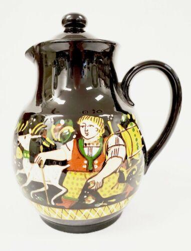 SCHNEIDER STEFFISBURG Swiss Folk Art Majolica Teapot