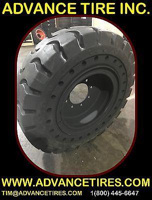 Solid Skid Steer Tires 750-16 La With Rim 10-16.5 Skid Steer Tires Flat Proof