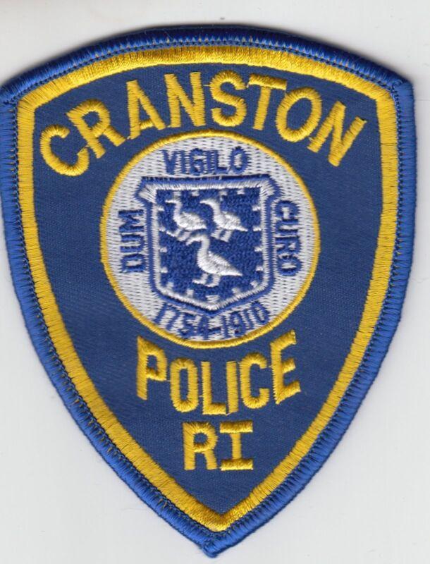 CRANSTON RHODE ISLAND POLICE SHOULDER PATCH