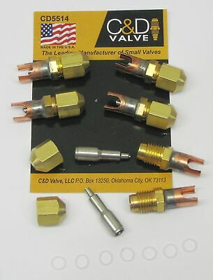 Cd Braze-on Self-piercing Copper Saddle Valve For 14 Tube Cd5514 Package Of 6