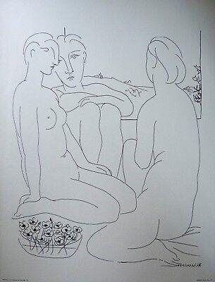 Picasso Trois Femmes nues pres dùne Fenetre  Siebdruck