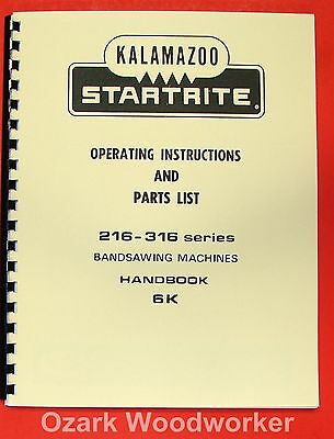 Kalamazoo-startrite Band Saw 216 316 Service Manual 0413