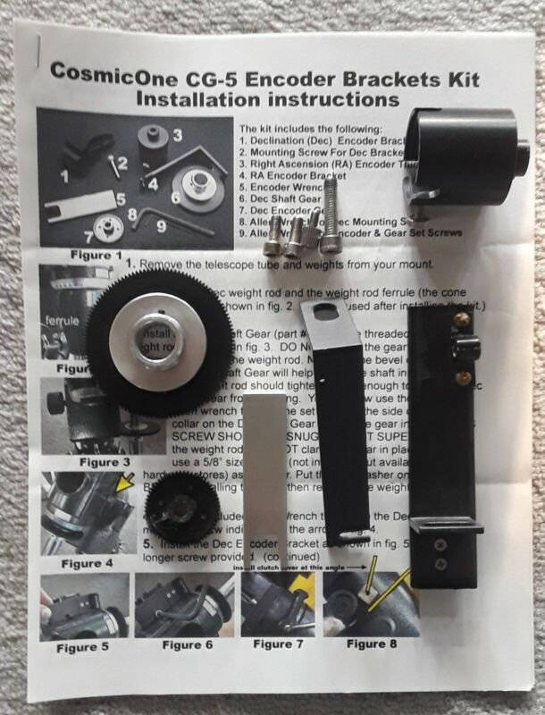 Kit to add Encoders to SkyVue Pro Mount