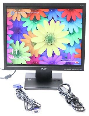 "Acer V173 Djb 17"" 1280x1024 LCD Monitor with Stand, VGA and Power Cable"