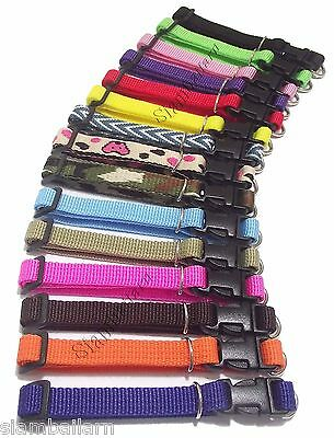 Wholesale Lot of 15 Nylon Whelping Collars Little Puppy Pet Dog Collars