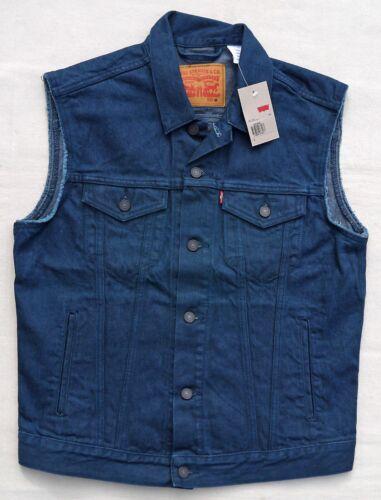 Levis Vest Sleeveless Jean Jacket Cotton Denim Trucker Biker Blue Men