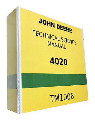 John Deere Tractor Service Book - 4020 John Deere Technical Service Shop Repair Manual Tractor Book