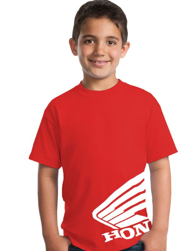 Kids Honda Wing Tee T-shirt Motorcycle Riding jersey Gear Boys Youth Childs cr50