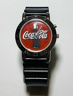 Men's or Women's 2002 Coca-Cola Company Watch w/ Collectible Tin CC5004 NR