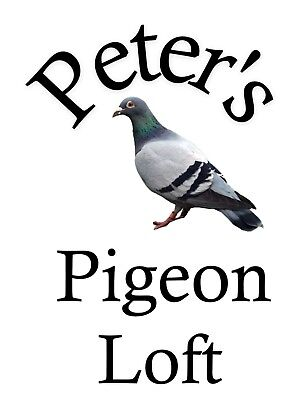 METAL SIGN PERSONALISED PIGEON LOFT NOVELTY SIGN XMAS GIFT 113