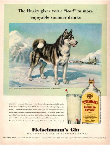 1940 vintage beverage Ad FLEISCHMANN