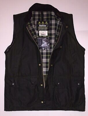 Barbour Westmorland Waistcoat Gilet Wax Size (Large) Model #A220 Made In England
