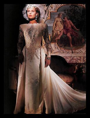1988 Illusions Wedding Dress Gown Vintage PRINT IMAGES Marriage Bride Models 80s