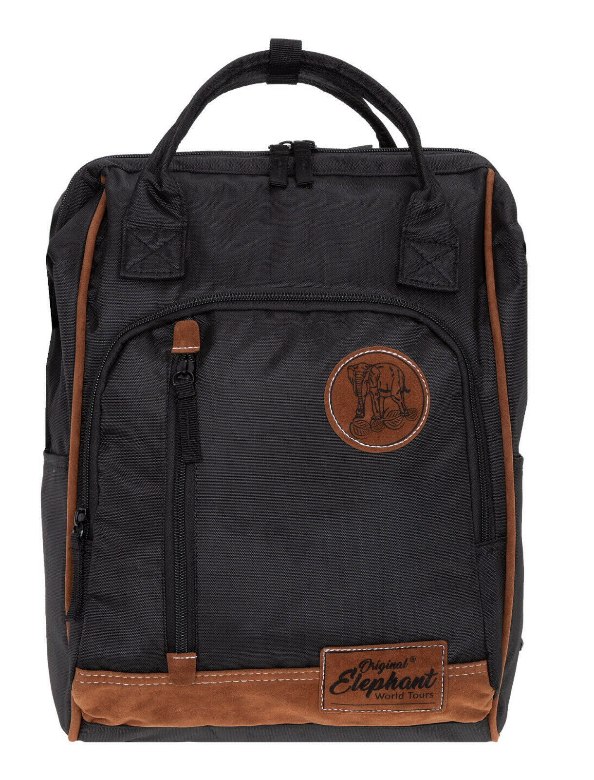 16a3a82b61d71 Rucksack Damen Elephant Finn Tasche A4 Freizeitrucksack Bürorucksack Bag  Schwarz ...