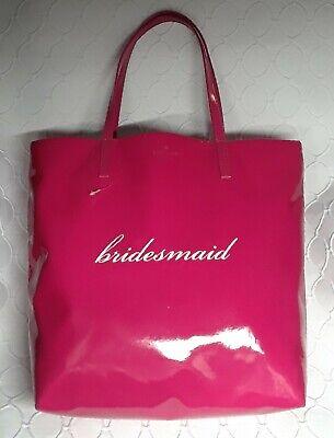 KATE SPADE FUCHSIA PINK Belles Bon Shopper Bridesmaid Shopper Tote Bag