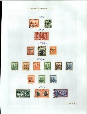 New Zealand 1936-1943 Album Page Of Stamps #V21270