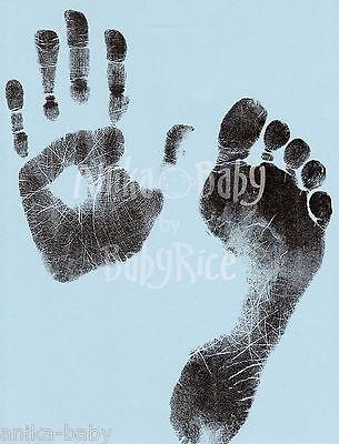 Neugeborenes Baby Junge Kleinkind Hand Drucke Fußabdrücke Tintenlose Wischen Set